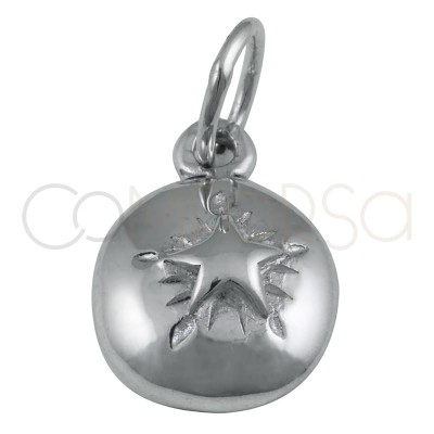 Colgante estrella alto relieve 8 mm plata 925