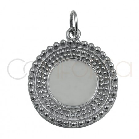 Gold plated sterling silver ethnic pointed pendant 20 mm