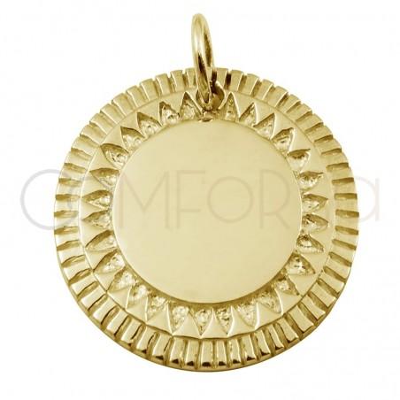 Chapa étnica sol 20mm plata 925ml