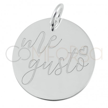 """Sterling silver 925 pendant """"Me Gusto"""" 17mm"""