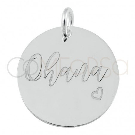 """Sterling silver 925 gold-plated pendant """"Ohana"""" 17mm"""