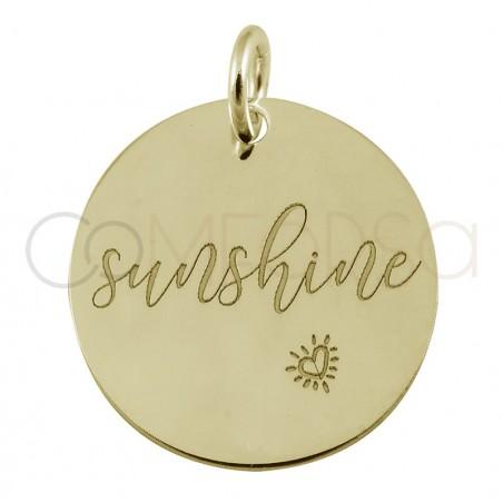 "Sterling silver 925 pendant ""Sunshine"" 17mm"