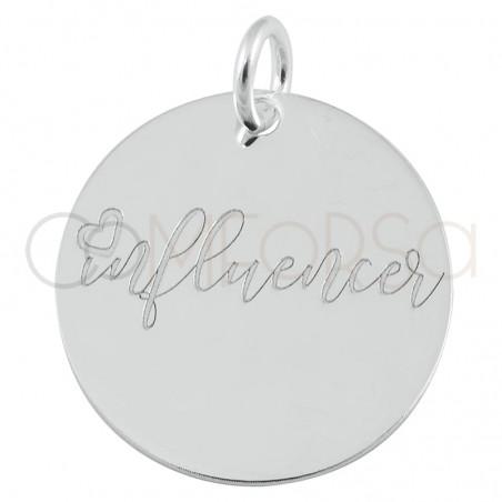 "Sterling silver 925 pendant ""Influencer"" 17mm"