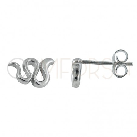 Sterling silver 925 gold-plated snake earring 9 x 6mm