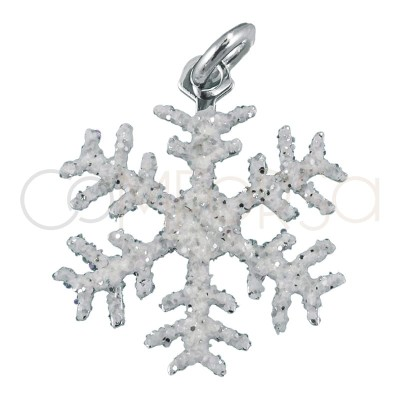 Sterling silver 925 snowflake with glitter