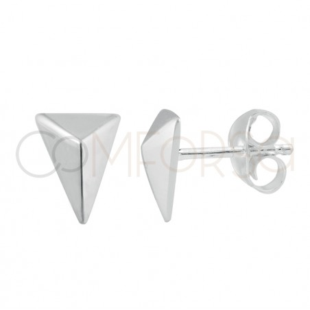 Sterling silver 925 arrowhead earrings 6 x 8mm