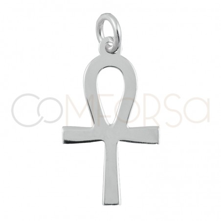 Sterling silver 925 Key of Life pendant 11x 20 mm