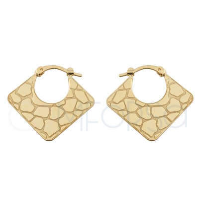 Sterling silver 925 crocodile print earrings 25x23.7 mm
