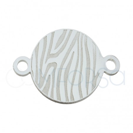 Sterling silver 925 zebra connector 10 mm