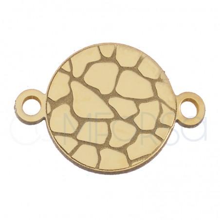 Entrepieza cocodrilo 10 mm plata chapada en oro