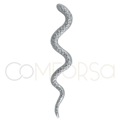 Colgante serpiente 70 mm plata 925