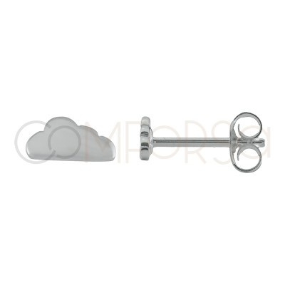 Sterling silver 925 cloud earrings 8 x 4 mm