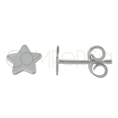 Sterling silver 925 mini star earrings 6 mm