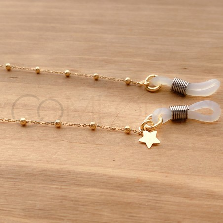 Sterling silver 925 chain for glasses with star