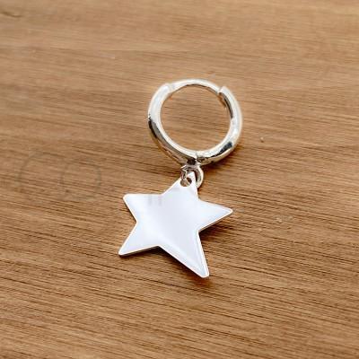 Sterling silver 925  irregular star pendant 13 mm