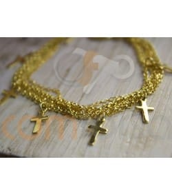 copy of Gold plated sterling silver 925 round belcher chain 1.5 mm