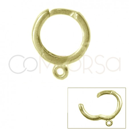Sterling silver 925 gold-plated Hoop earrings 12 mm with open jump ring