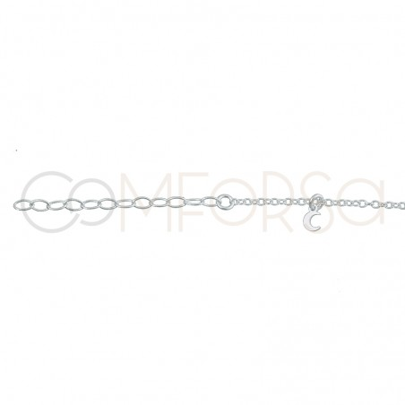 Sterling silver 925 moons anklet
