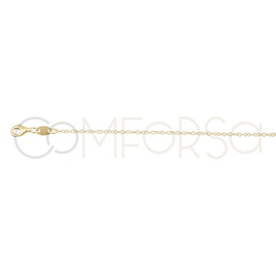 Sterling silver 925 gold-plated lightning bolt, star and moon choker 40+5 cm