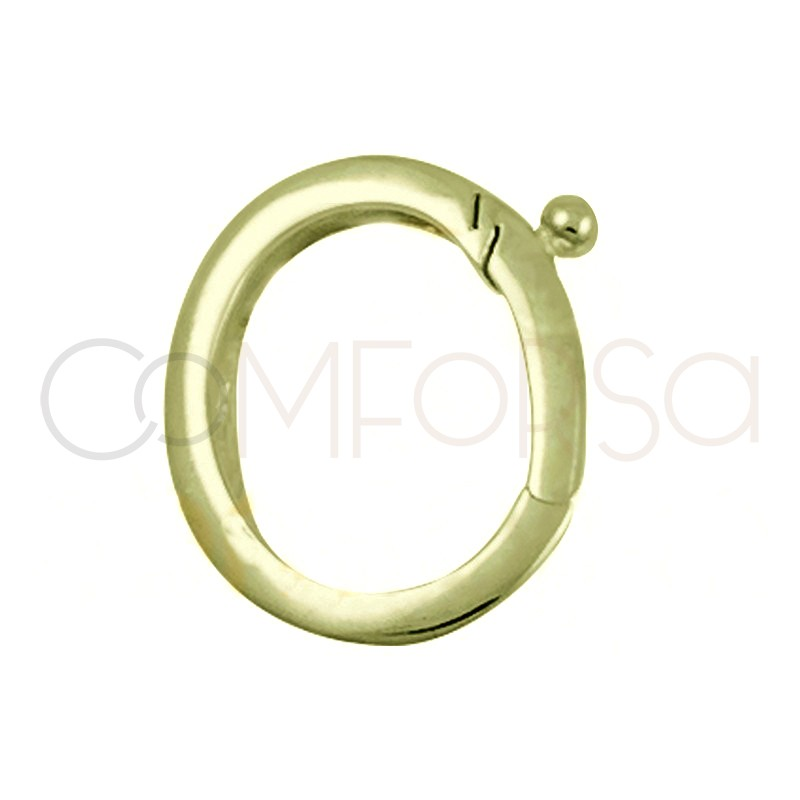Sterling silver 925 gold-plated clasp with clip 13 mm