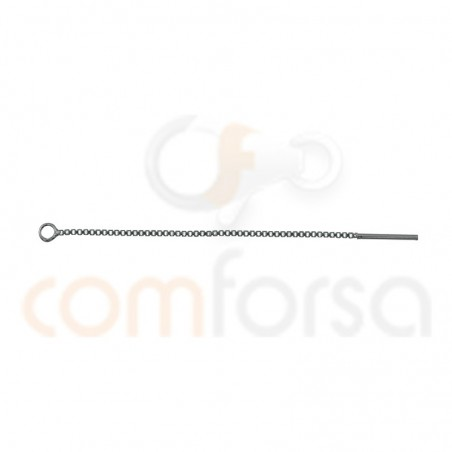 Sterling silver 925 gold-plated chain with stem 40mm