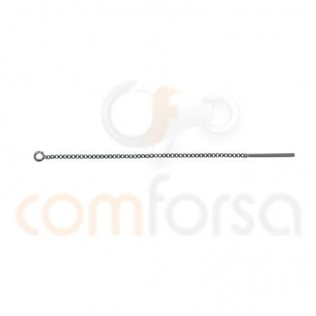 Sterling silver 925 gold-plated chain with stem 50 mm