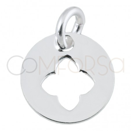 Sterling silver 925 clover cut-out pendant 9 mm