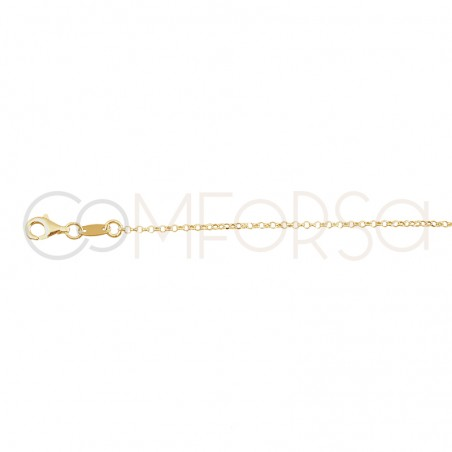 Sterling silver 925 gold-plated lunar phase choker 40 + 2 cm