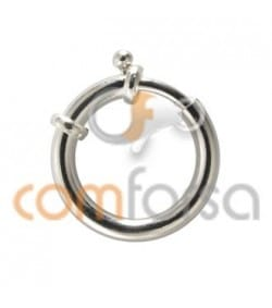 Sterling silver 925 large bolt clasp without jumprings 22 mm