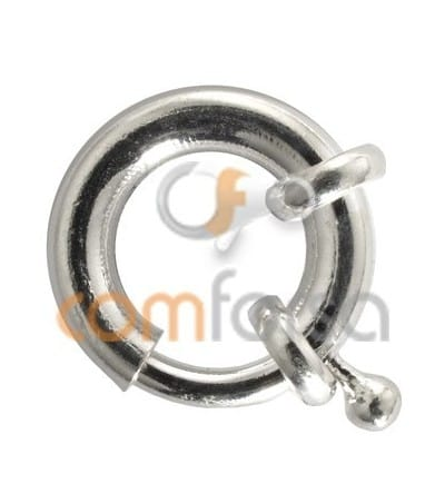 Sterling silver 925 large bolt clasp without jumpring 16 mm