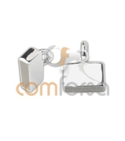Sterling silver 925 flat closed end caps 7 x 2.5 mm