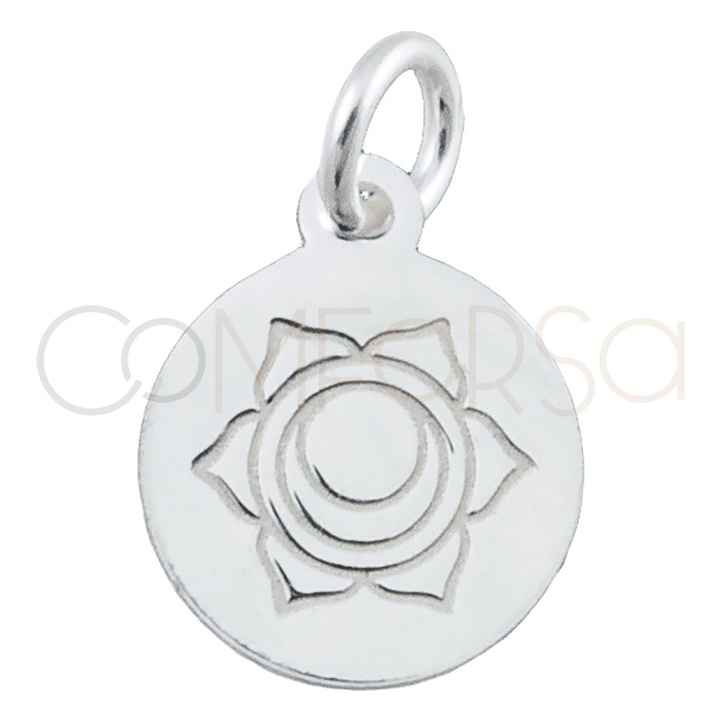 """Sterling silver 925 """"SVADHISTHANNA"""" pendant 10 mm"""