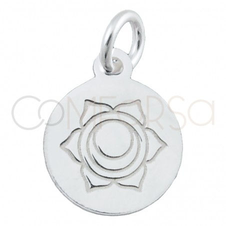"""Sterling silver 925 gold-plated """"SVADHISTHANNA"""" pendant 10 mm"""