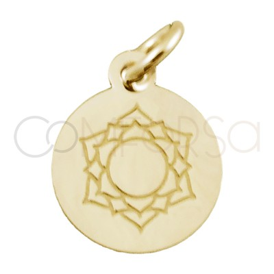 """Sterling silver 925 gold-plated """"ANAHATA"""" pendant 10 mm"""