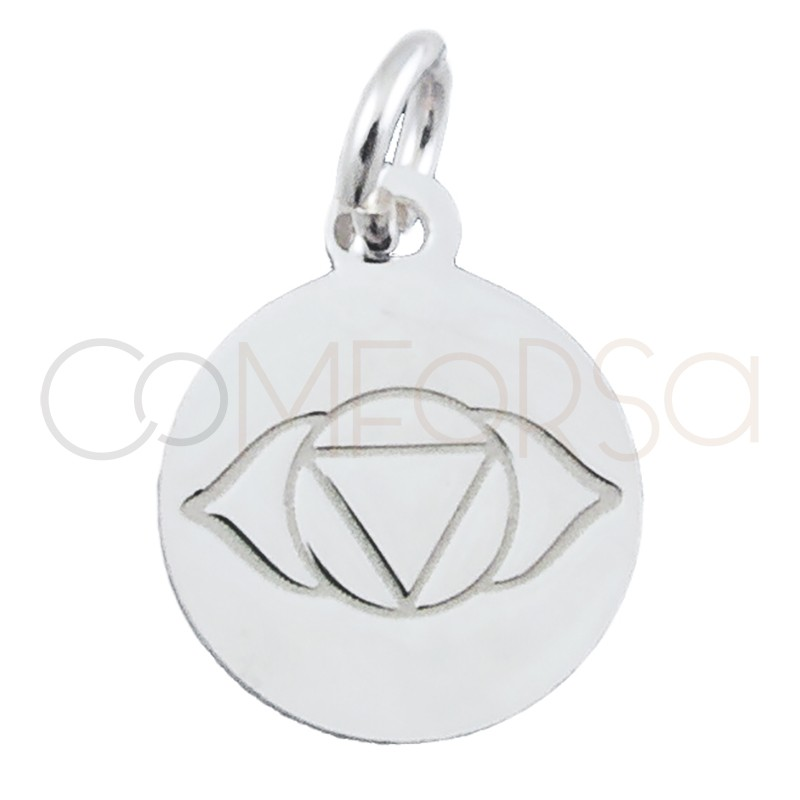 """Sterling silver 925 """"AJNA"""" pendant 10 mm"""