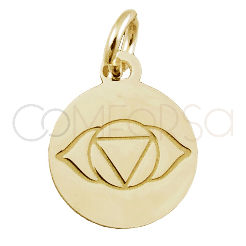 """Sterling silver 925 gold-plated """"AJNA"""" pendant 10 mm"""
