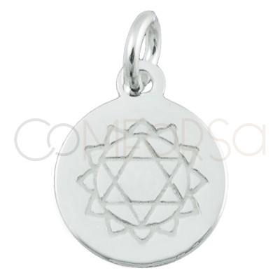 "Sterling silver 925 ""SAHASRARA"" chakra pendant 10 mm"