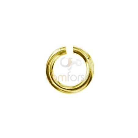 Anilla 3, 5 ext (0.80) plata chapada en oro
