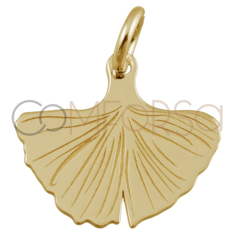Sterling silver 925 gold plated mermaid tail pendant 14 x 12mm