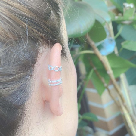 Ear cuff marinero 11.5 mm plata 925