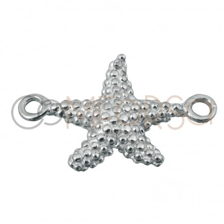 Sterling silver 925 gold-plated starfish connector 10 mm