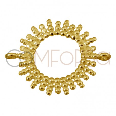 Sterling silver 925 gold-plated sun connector 15 mm