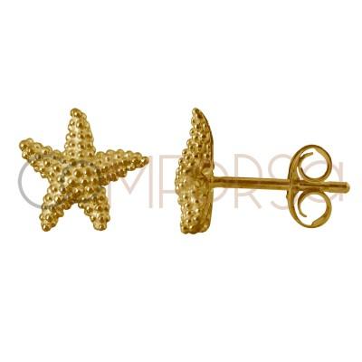 Sterling silver 925 starfish earrings 10 mm