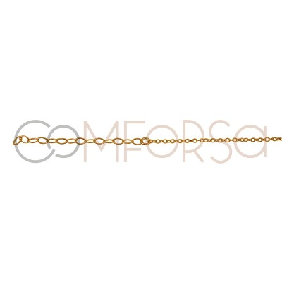 Sterling silver 925 gold-plated choker with colourful zirconias 40 cm
