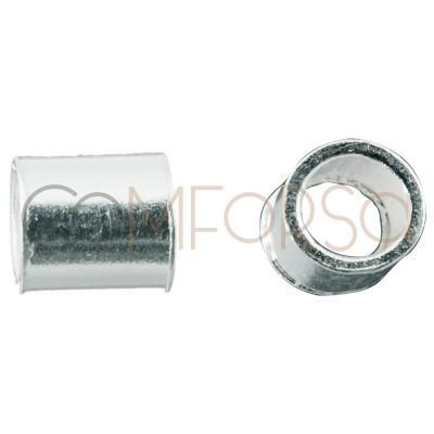 Sterling silver 925 Crimp tube 2 x 2 mm