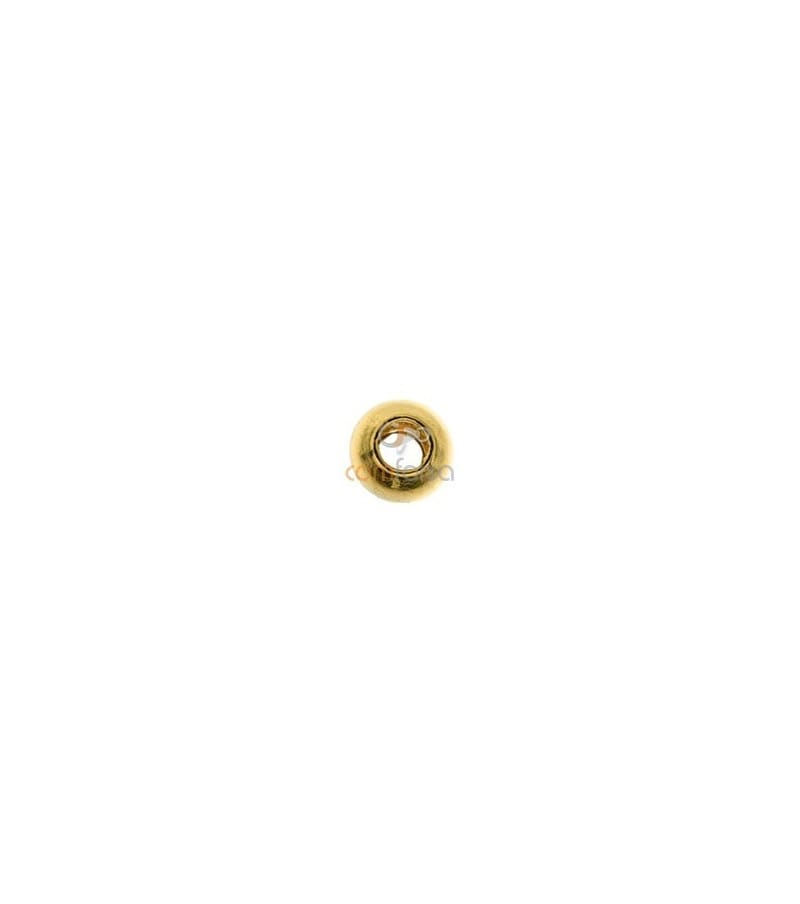 18kt Yellow gold round bead  2 mm