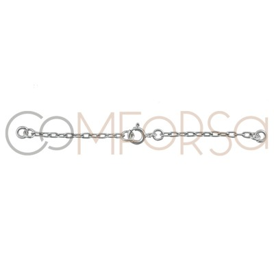 Sterling silver 925 Chain with Bolt clasp 68 mm