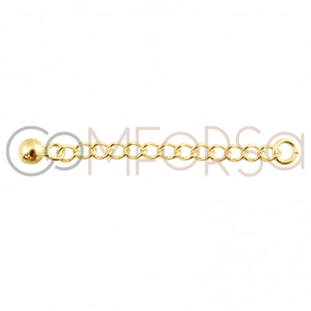 Sterling silver 925 gold-plated necklace extender 40 mm
