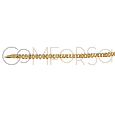 Round curb chain 1.2 mm sterling silver gold plated