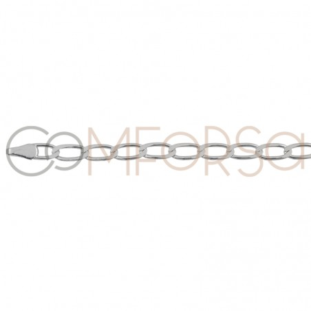 Sterling silver 925 curb long chain 3mm